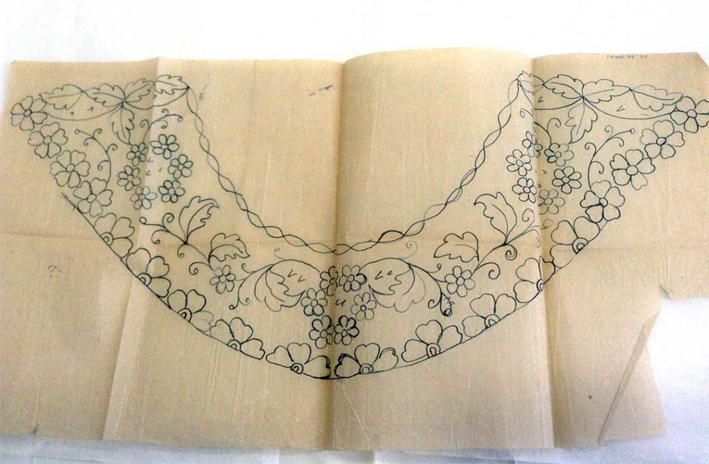 1992.0099 Limerick Lace design drawing
